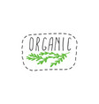 organic badges vector image vector image