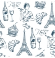 pattern je taime paris vector image vector image