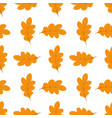 pattern with oak leaves vector image vector image