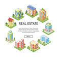 real estate company advertising template vector image