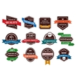 Retro banners labels and stickers vector image
