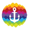 Sea Anchor Rainbow Color Icon for Mobile vector image vector image
