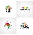 Set of african rastafari sound logo designs vector image