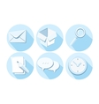 Set of business icons letter box magnifying glass vector image