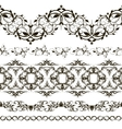 Set of horizontal lace pattern decorative vector image vector image