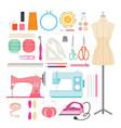sewing kits icons set vector image vector image