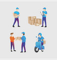 shipping courier vector image vector image