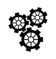 silhouette gear wheel engine cog icon vector image vector image