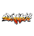 summer graffiti lettering vector image vector image