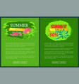 summer sale with 30 off promo tropical banners vector image vector image