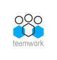 teamwork logo concept team person symbol vector image vector image
