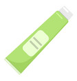 toothpaste tube icon flat style vector image