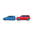two cars involved in car wreck auto accident flat vector image