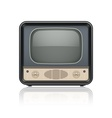 Vintage retro tv set icon vector image