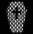 white dot coffin icon vector image
