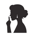 woman gestures for silence vector image vector image