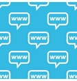 WWW message pattern vector image vector image