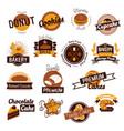 bakery hand drawn logos vector image
