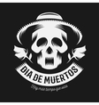 Mexican day of the dead monochrome vector image