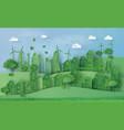 urban countryside landscape city village vector image