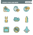 Icons line set premium quality of fitness icon vector image
