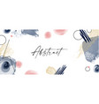 abstract art background hand painted minimalistic vector image