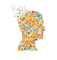 Abstract creative concept silhouette head vector image