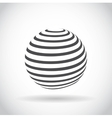 Abstract swirl sphere globe symbol vector image vector image