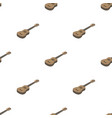 acoustic bass guitar icon in cartoon style vector image vector image