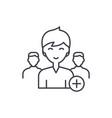 add new user line icon concept new user
