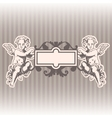 Angels in style of a baroque vector image vector image
