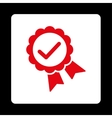 Approved icon from Award Buttons OverColor Set vector image