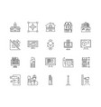 architechtural services line icons signs vector image vector image