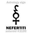 astrology asteroid nefertiti vector image vector image