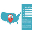 austin map infographic vector image