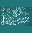 back to school banner sale school supplies vector image vector image