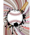 Baseball Ball on Background with Rays4 vector image vector image