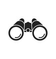 binoculars icon flat design vector image vector image