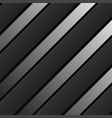black background stripes with shadow geometric vector image