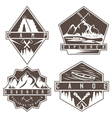 canoe camping and adventure vintage labels set vector image vector image
