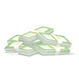 cash money dollar stacks isolated vector image