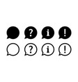 chat question exclamation information speech vector image vector image