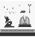 City Park and Landmarks Signs vector image vector image