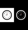 clock face with shadow on white background vector image vector image