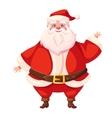 colorful flat santa waving his hand vector image vector image
