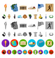 country greece cartoon icons in set collection for vector image vector image