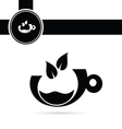 cup of coffee black vector image vector image