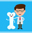 cute funny smiling doctor and healthy vector image