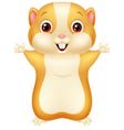 Cute hamster cartoon vector image vector image