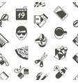 digital freelance workspace icons vector image